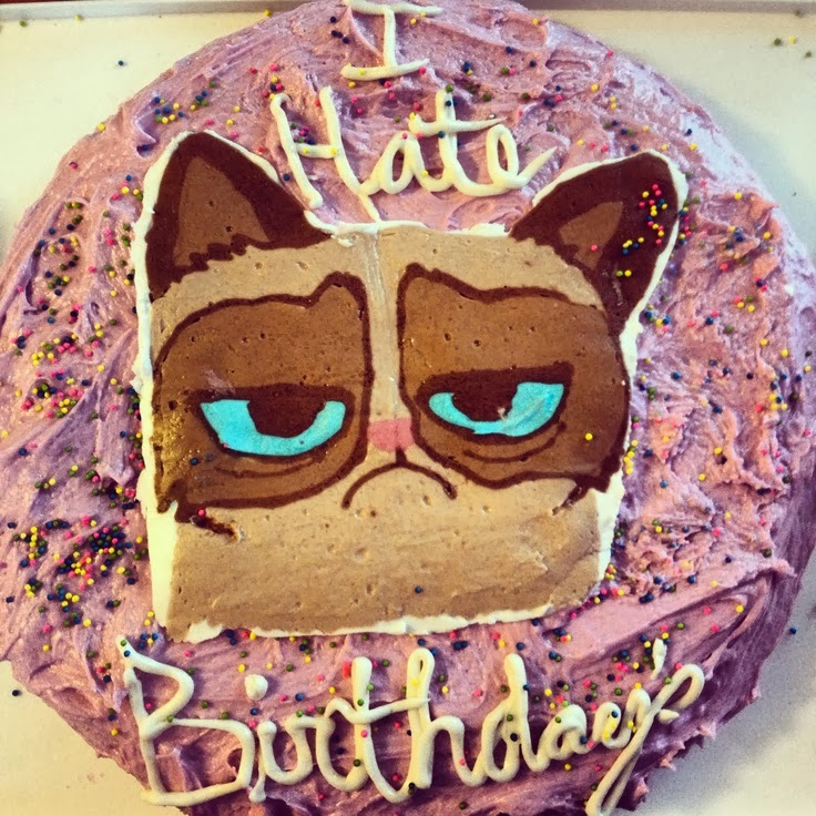 Magnificent Grumpy Cat Cakes Caterville Funny Birthday Cards Online Elaedamsfinfo